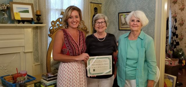 SDCHPS presented awards to homeowners, museums and businesses for helping to make this year's Pilgrimage a resounding success. Liz Brown did a phenomenal job presenting an interesting history of tea. […]